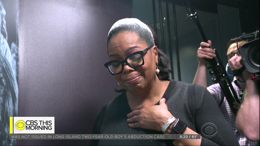 Oprah Winfrey, Smithsonian, Exhibit, Museum, Crying, Emotion
