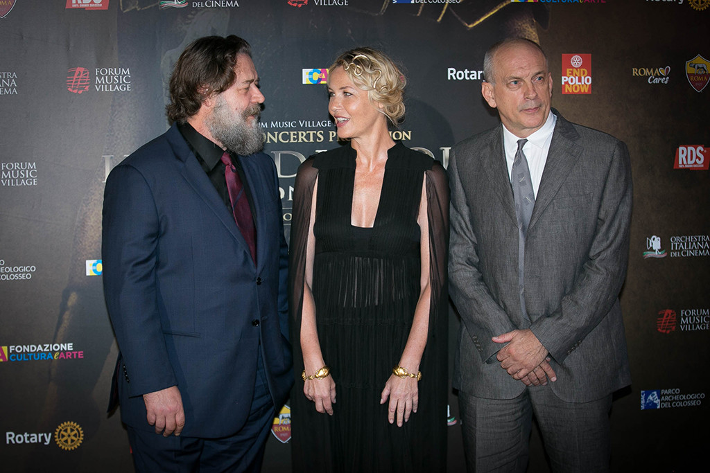 Russell Crowe, Connie Nielsen, Tomas Arana, Gladiator Reunion, Screening