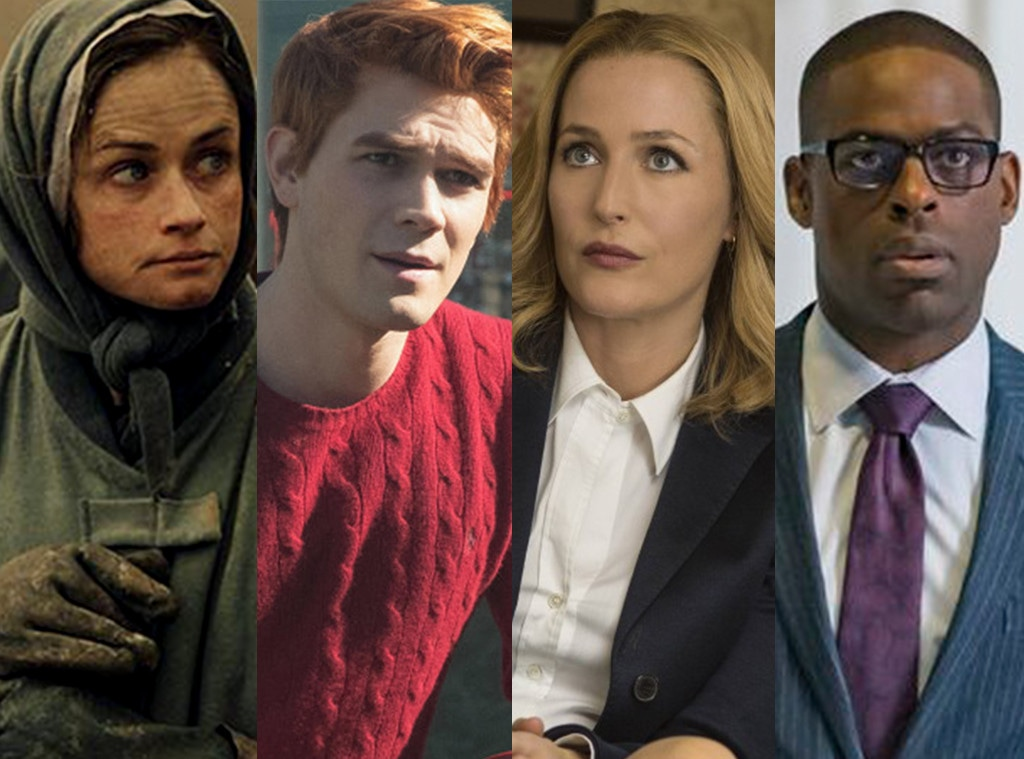 TV split, The Handmaid's Tale, Riverdale, The X Files, This Is Us