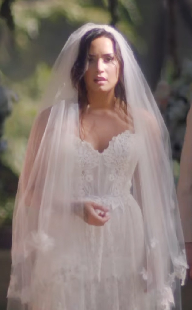 3. Demi Lovato from Best Wedding Dresses From Music Videos of All ...