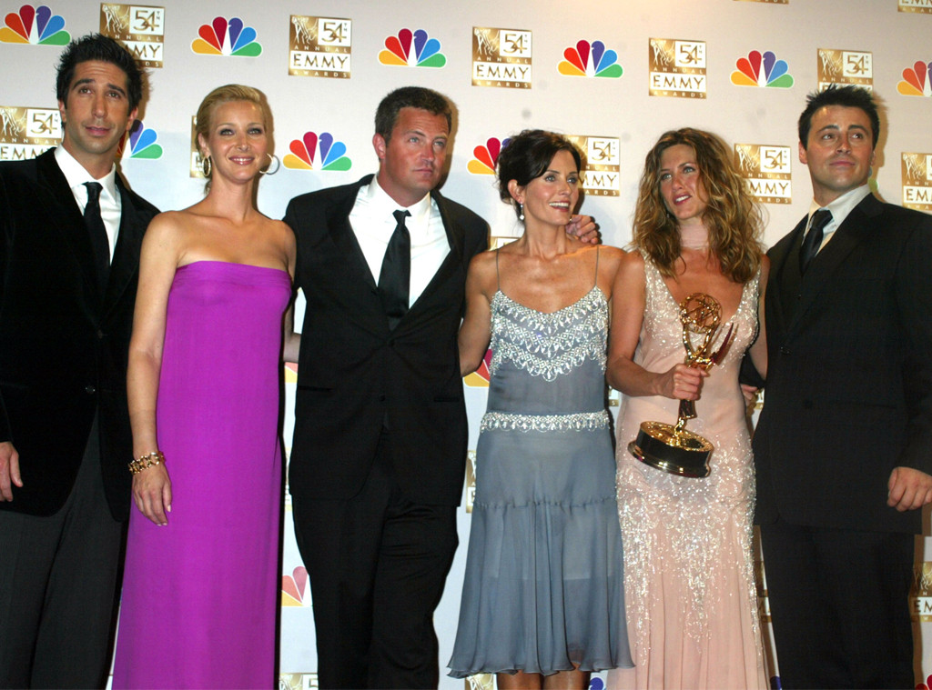 Courteney Cox, Jennifer Aniston, Lisa Kudrow, Matt LeBlanc, David Schwimmer, Matthew Perry, Friends, 2002 Emmys