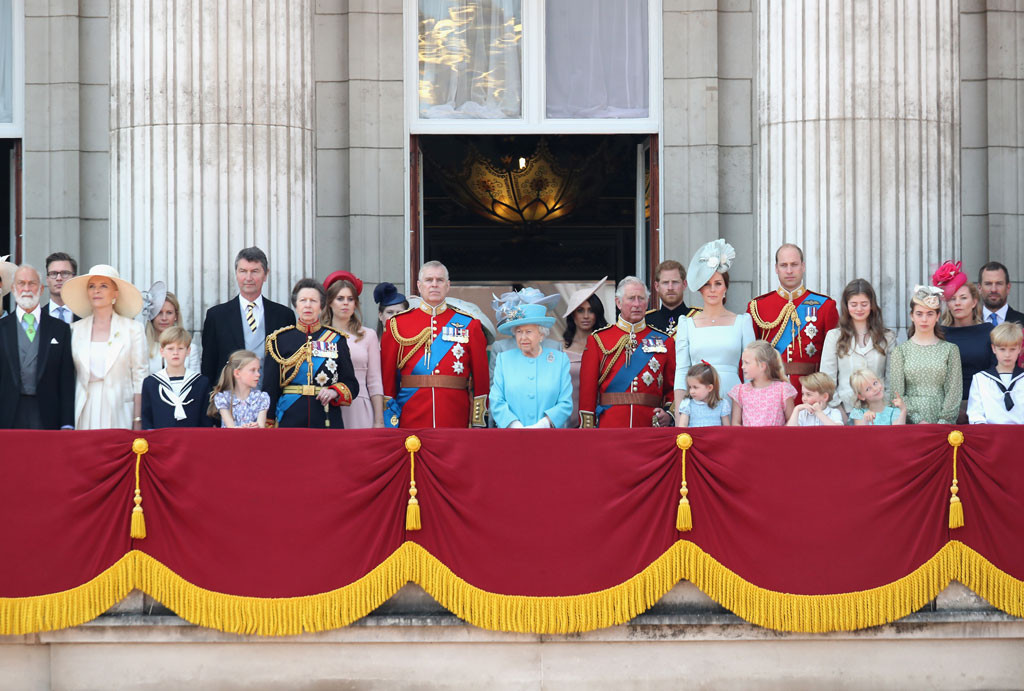 Trooping The Colour Balcony, Royals