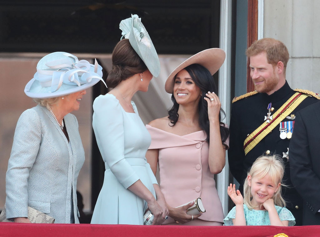 Meghan Markle, Trooping The Colour, Camilla, Prince Harry, Kate Middleton