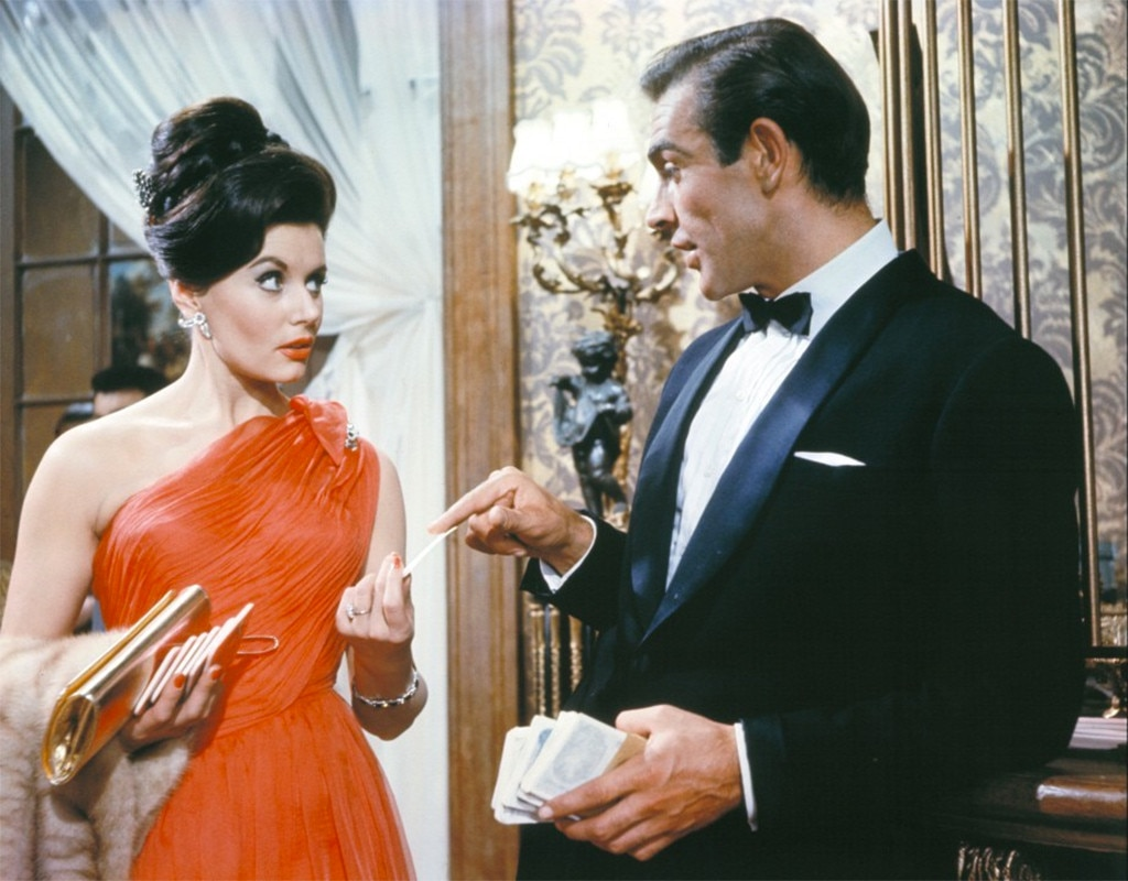 """Eunice Gayson -  The actress, who who played the first Bond girl, Sylvia Trench, in 007's 1962 debut Dr. No , died at age 90 on June 8. During her character's first meeting with Sean Connery 's James Bond, the famous spy utters for the first time what would become one of the most famous movie quotes of all time: """"Bond, James Bond."""""""