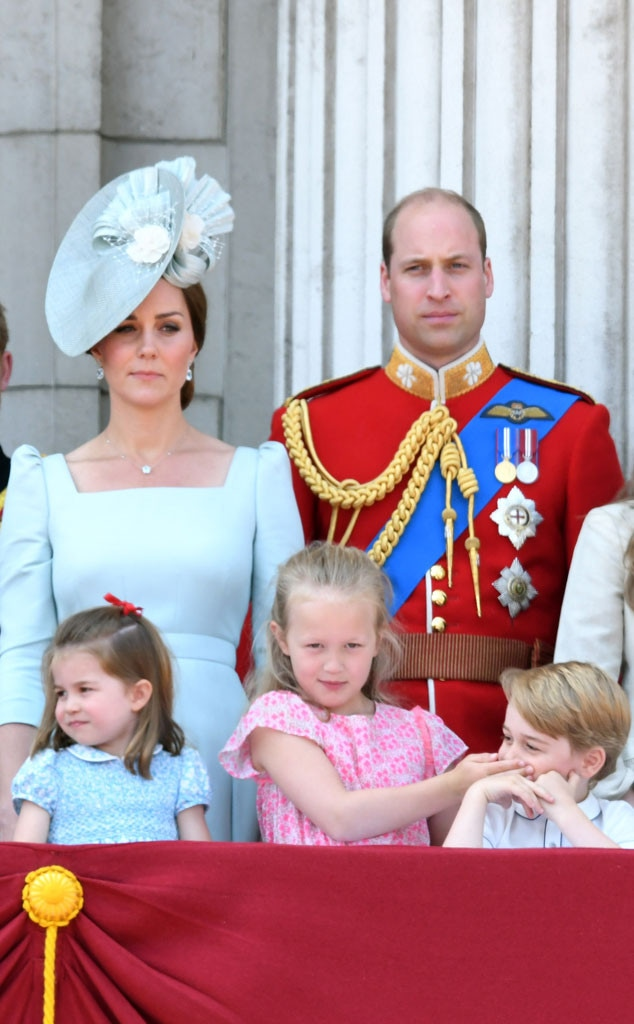 Kate Middleton, Prince William, Princess Charlotte, Savannah Phillips, Prince George