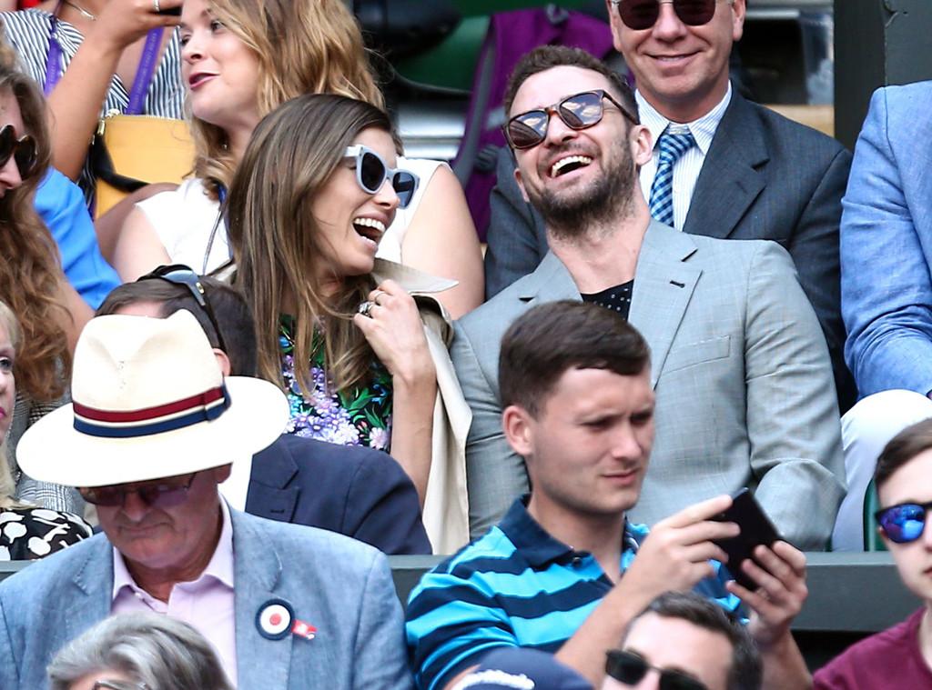 Jessica Biel, Justin Timberlake, Wimbledon