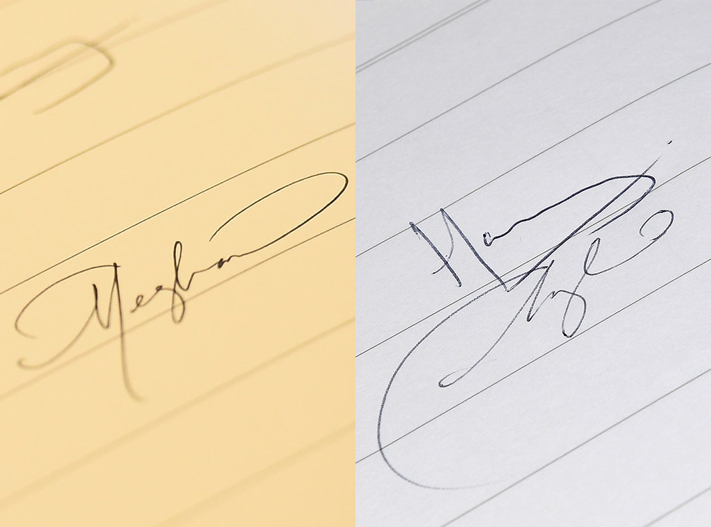 Meghan Markle, Signature, Visitor's Book