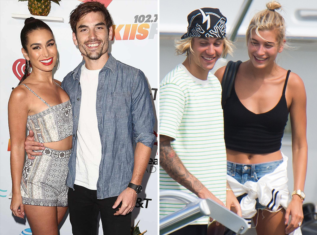 Ashley Iaconetti, Jared Haibon, Hailey Baldwin, Justin Bieber