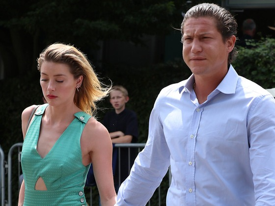 Amber Heard and Vito Schnabel Pack on the PDA at Wimbledon