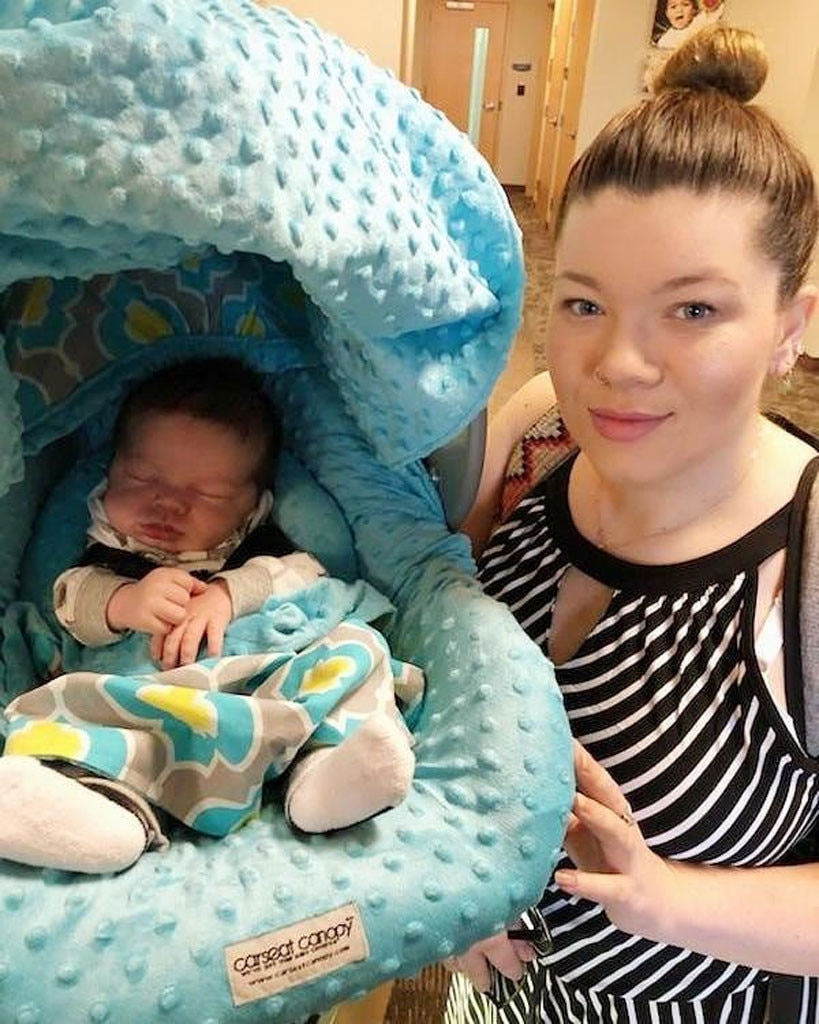 """Amber Portwood -  """"Big Sis and little James! She was so excited to meet her little brother,""""  wrote the Teen Mom  star about her nine-year-old daughter Leah and newborn son James in an Instagram post. The new mother of two  gave birth  on May 8."""