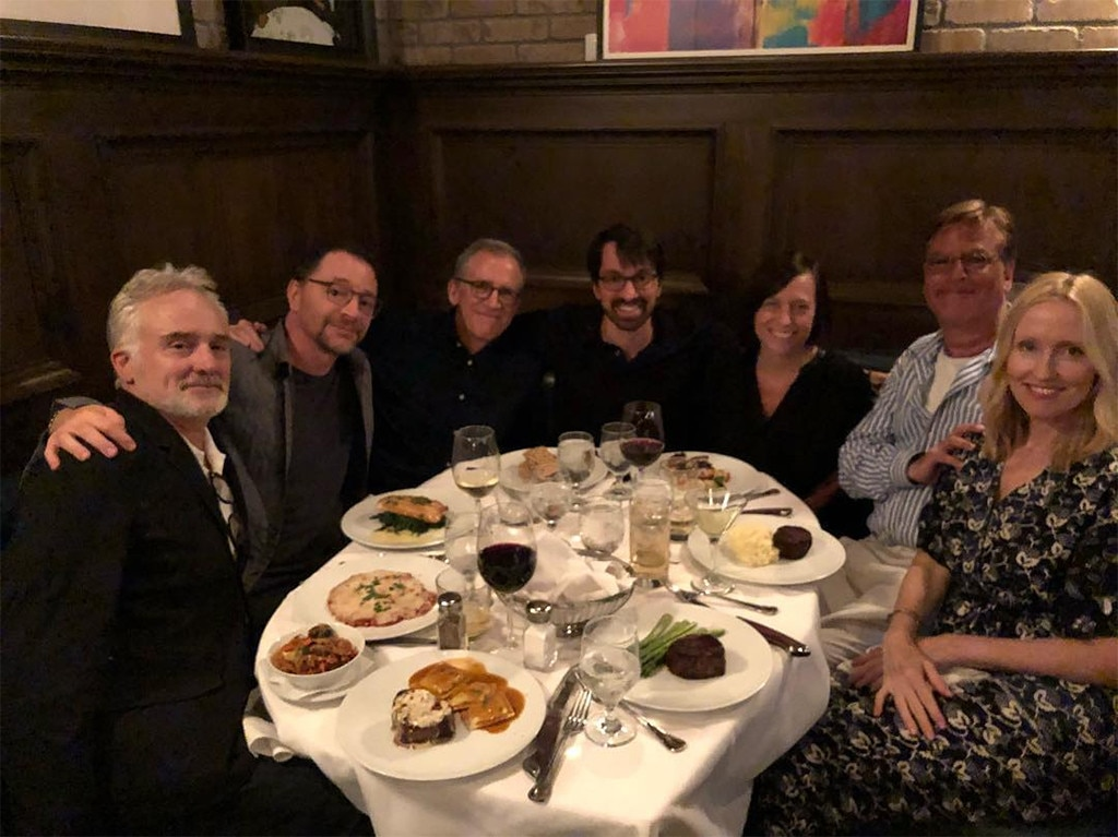 Josh Malina, Bradley Whitford, Janel Moloney, Aaron Sorkin, West Wing, Reunion