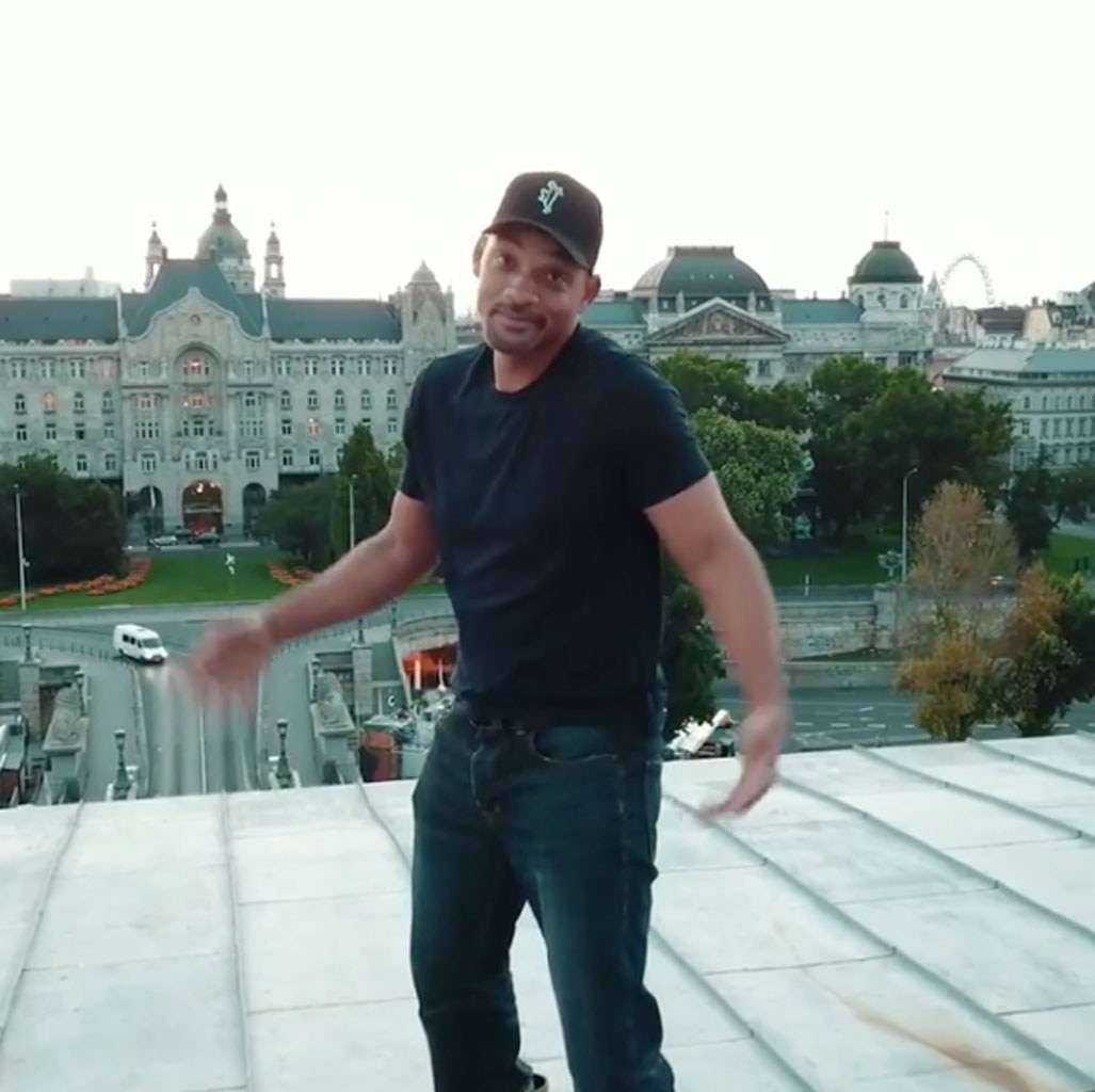 Will Smith Scales a Bridge for Drake's 'In My Feelings' Challenge