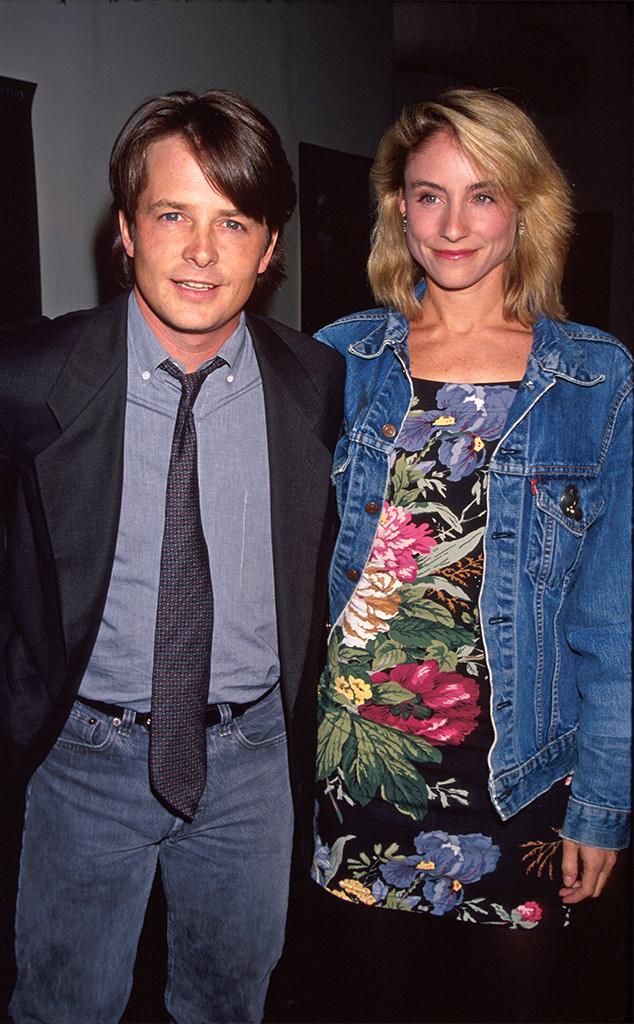 Tracy Pollan, Michael J Fox, 1990
