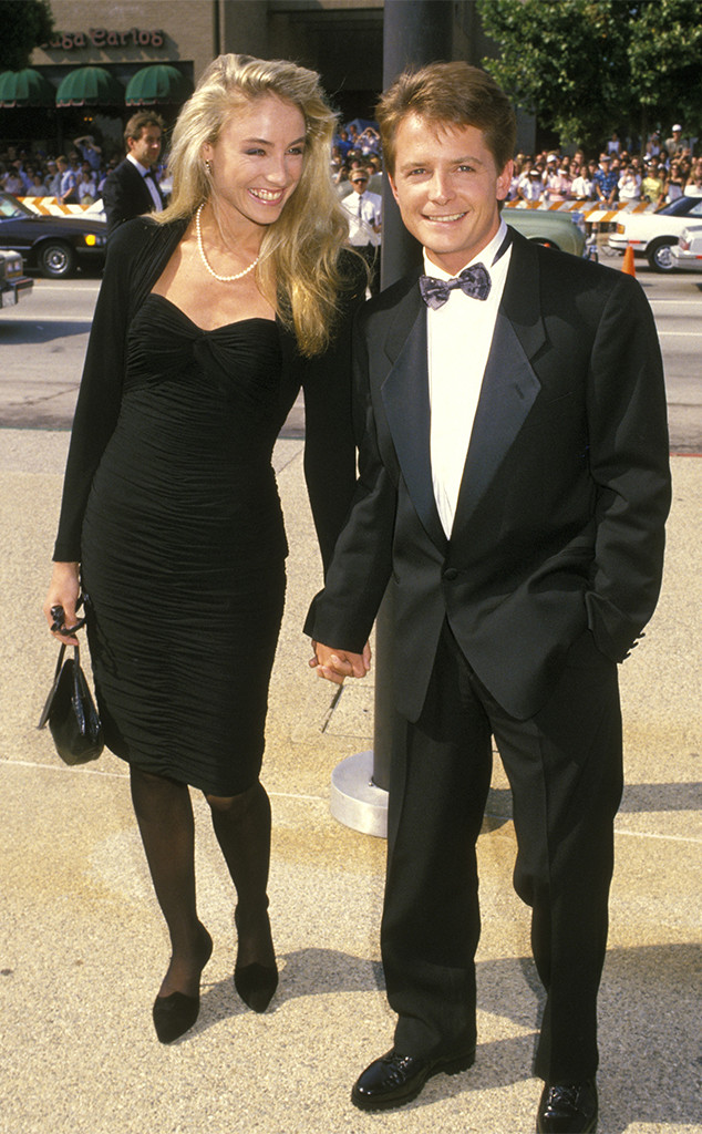 Tracy Pollan, Michael J Fox, 1988, Emmy Awards