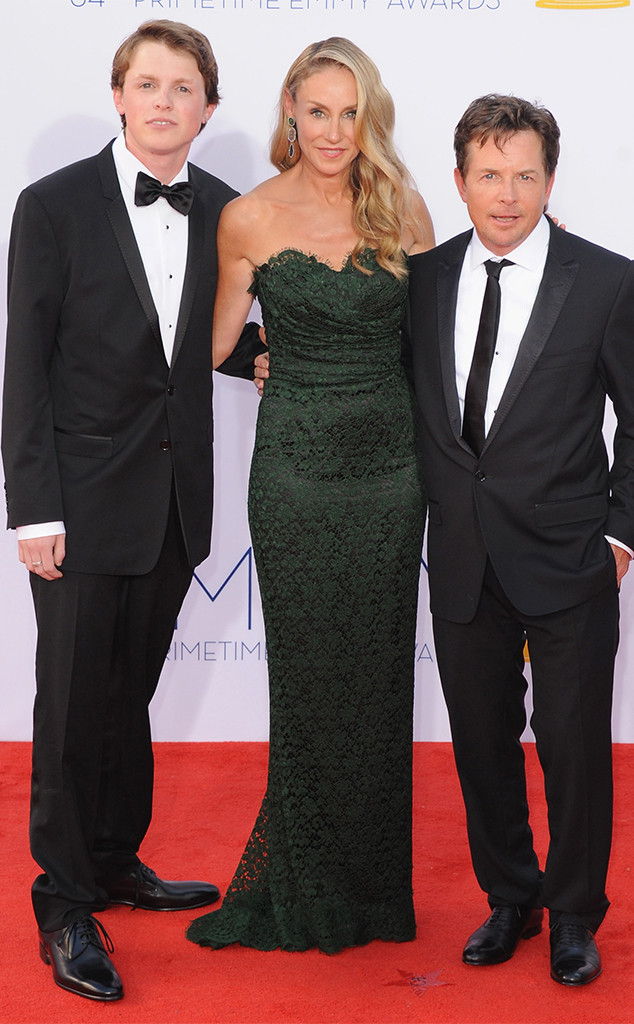 Tracy Pollan, Michael J Fox, Sam Fox, 2012 Emmy Awards