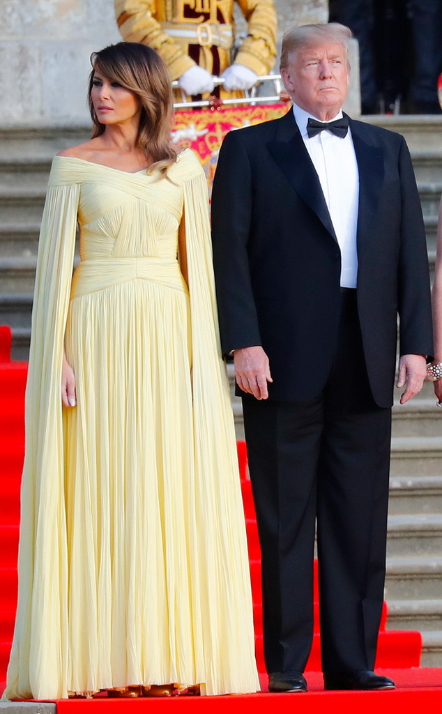 Melania Trump Channels Princess Belle For State Dinner In England