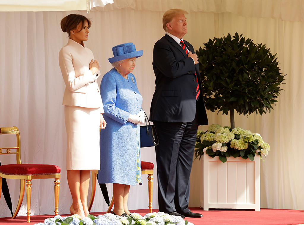 Queen Elizabeth II, Donald Trump, Melania Trump