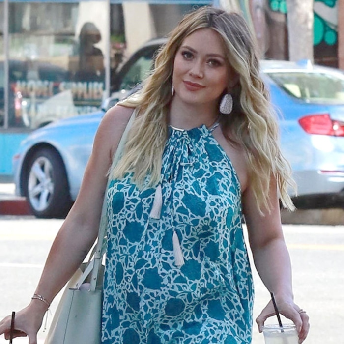 """Hilary Duff Asks Baby to """"Hurry Up"""" as Due Date Approaches"""