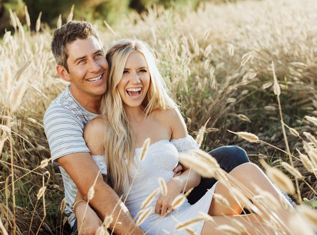 arie luyendyk jr and lauren burnham get festive at her bridal