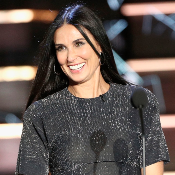 demi moore is a surprise guest at bruce willis comedy central roast