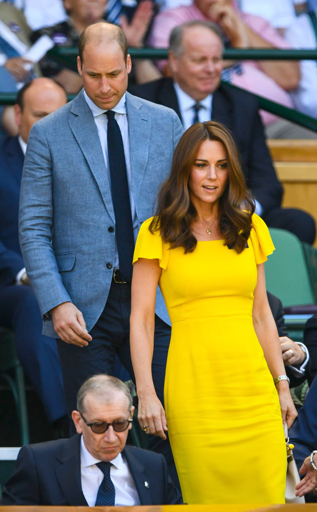 Image result for kate middleton in yellow at Wimbledon