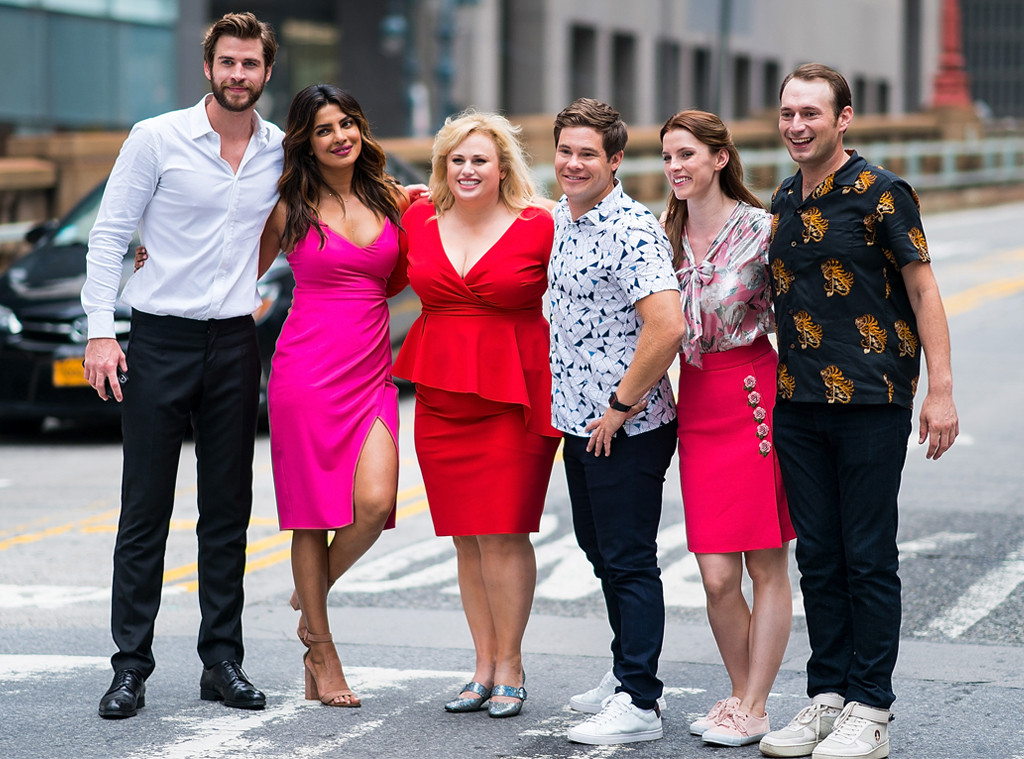 Liam Hemsworth, Priyanka Chopra, Rebel Wilson, Adam Devine, Isn't It Romantic Filming