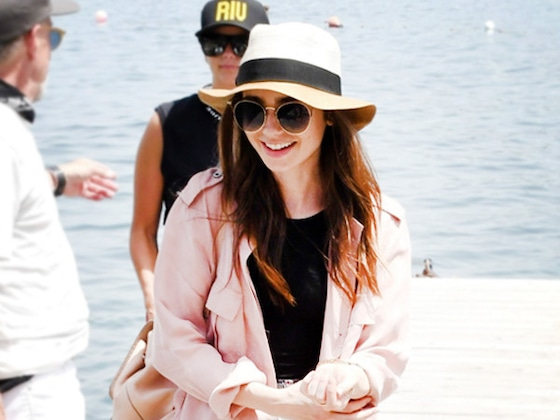 Saturday Savings: Lily Collins' Summer-to-Fall Jacket Is on Sale