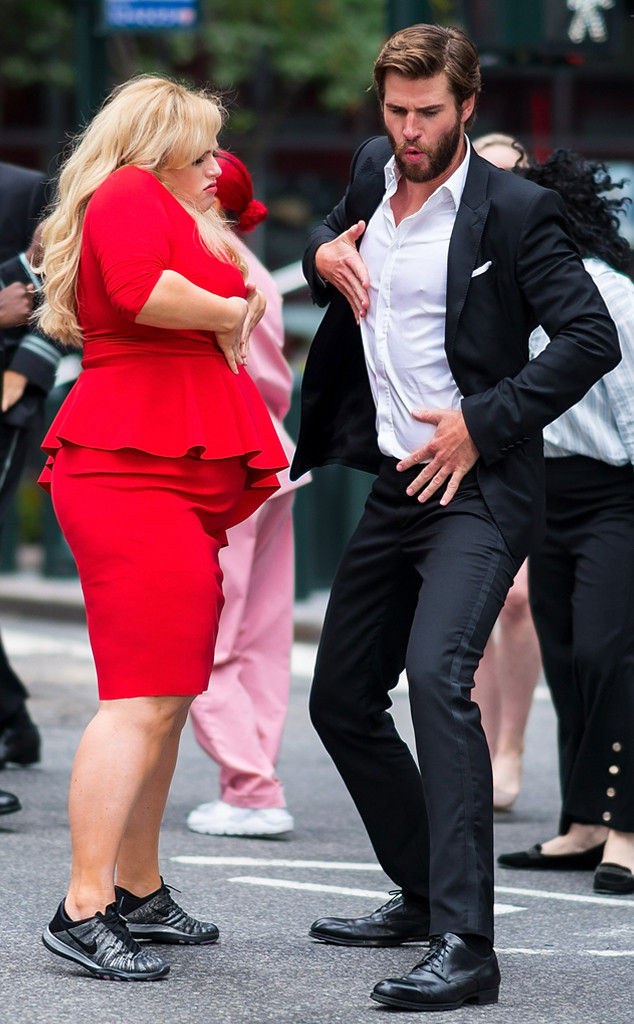 Rebel Wilson, Liam Hemsworth, Isn't It Romantic Filming