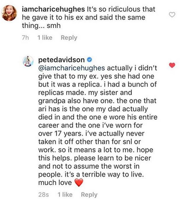 Pete Davidson, Instagram