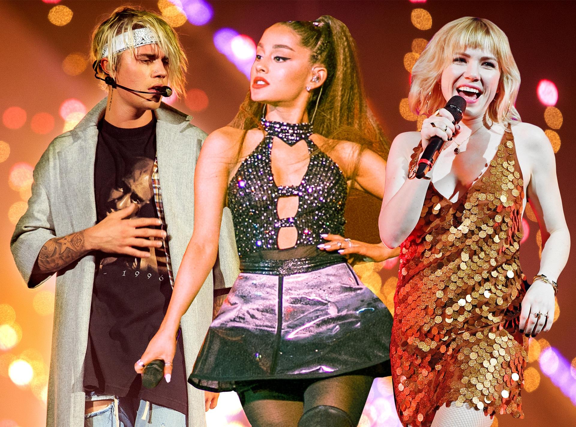 Justin Bieber, Ariana Grande, Carly Rae Jepsen