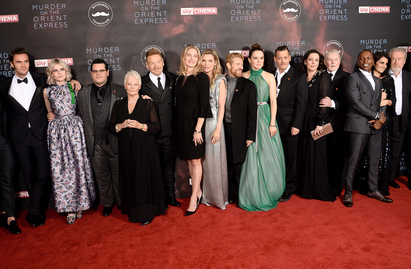 Johnny Depp, Cast, Murder on the Orient Express Premiere