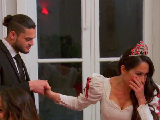 Watch Nikki Bella Get Swept Off Her Feet by Male Strippers in Paris on <i>Total Bellas</i>: &quot;I Think I'm Scared&quot;