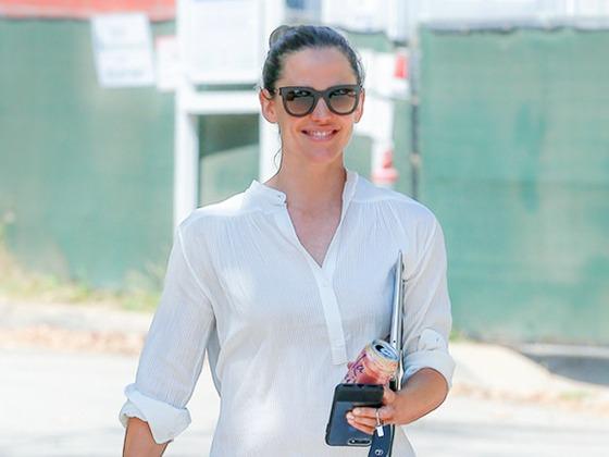 Jennifer Garner's Striped Denim Is a Colorful Twist on a Wardrobe Staple