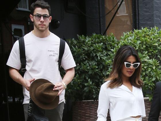 Nick Jonas and Priyanka Chopra Are Twinning While Taking London by Storm