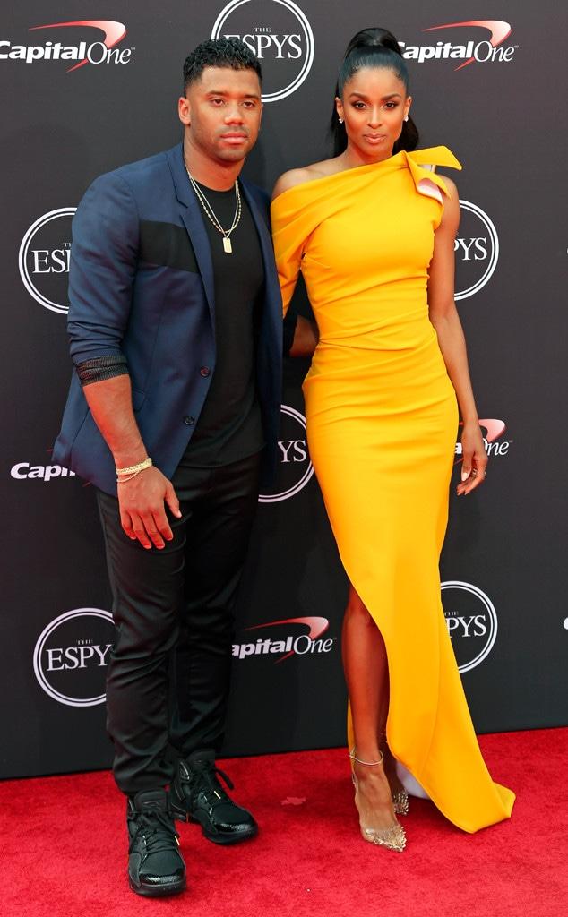 Russell Wilson, Ciara, 2018 ESPYs