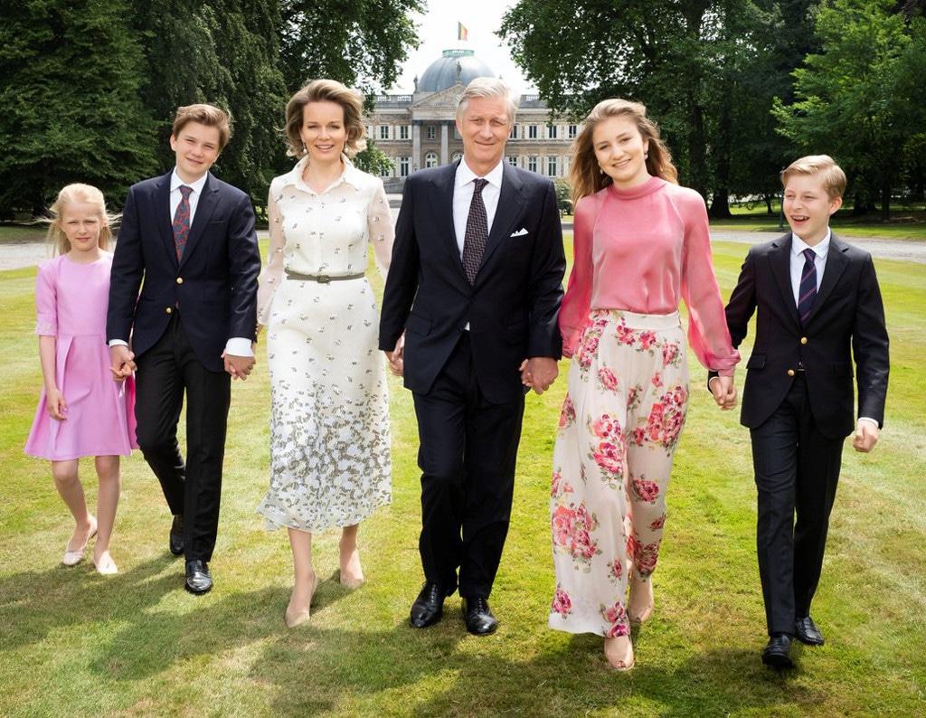 Belgian Royal Family, Princess Eléonore, Prince Gabriel, Queen Mathilde, King Philippe, Princess Elisabeth, Prince Emmanuel