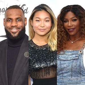 Lebron James, Chloe Kim, Serena Williams