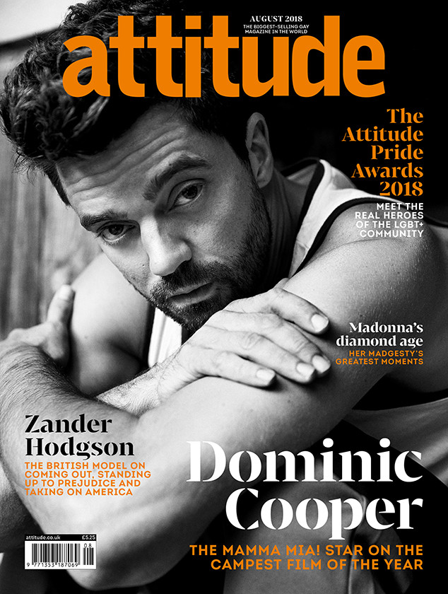 Dominic Cooper, Attitude Magazine, August 2018