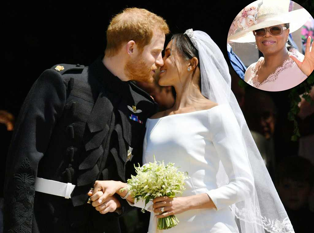 Prince Harry, Meghan Markle, Royal Wedding, Kiss, Oprah Winfrey