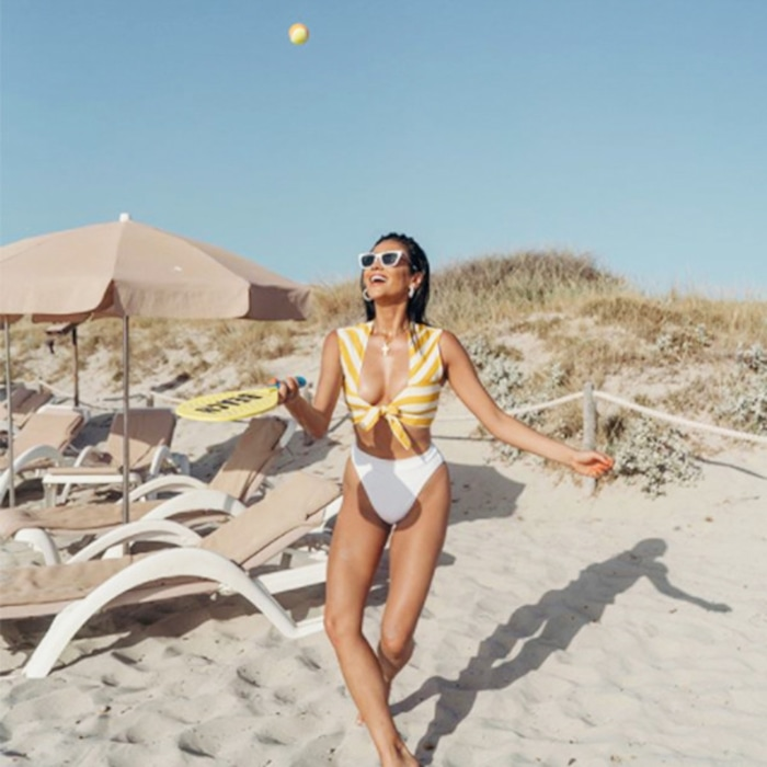 84576ac615 Shay Mitchell and Kendall Jenner Are Bringing This Retro Swimsuit Back