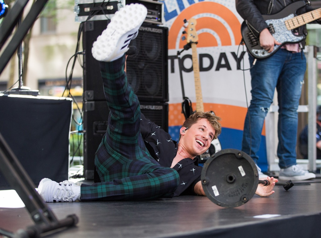 Charlie Puth -  The singer-songwriter has a little fun while on NBC's TODAY showin New York.