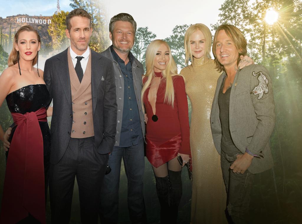 Blake Shelton, Gwen Stefani, Nicole Kidman, Keith Urban, Blake Lively, Ryan Reynolds