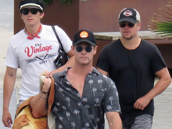 Matt Damon and Chris Hemsworth Embark on Another Couples' Vacation