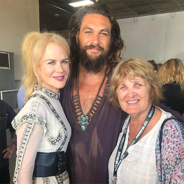 Jason Momoa, Coni Momoa & Nicole Kidman From Comic-Con