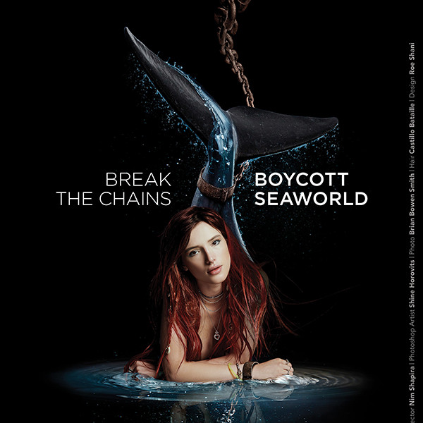 Bella Thorne, Anti-Seaworld, PETA Ad