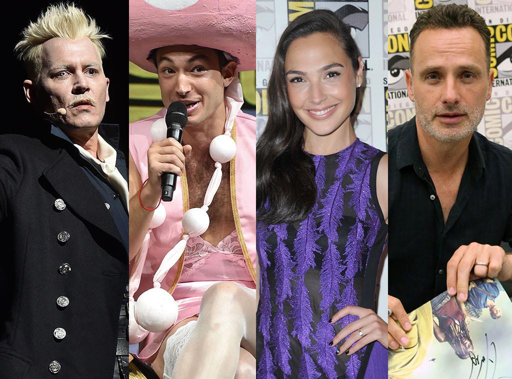 Johnny Depp, Ezra Miller, Gal Gadot, Andrew Lincoln, 2018 Comic Con