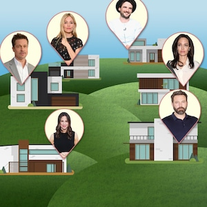 Celebrity Neighbors, Jen Garner, Ben Affleck, Brad Pitt, Angelina Jolie, Sienna Miller, Tom Sturridge