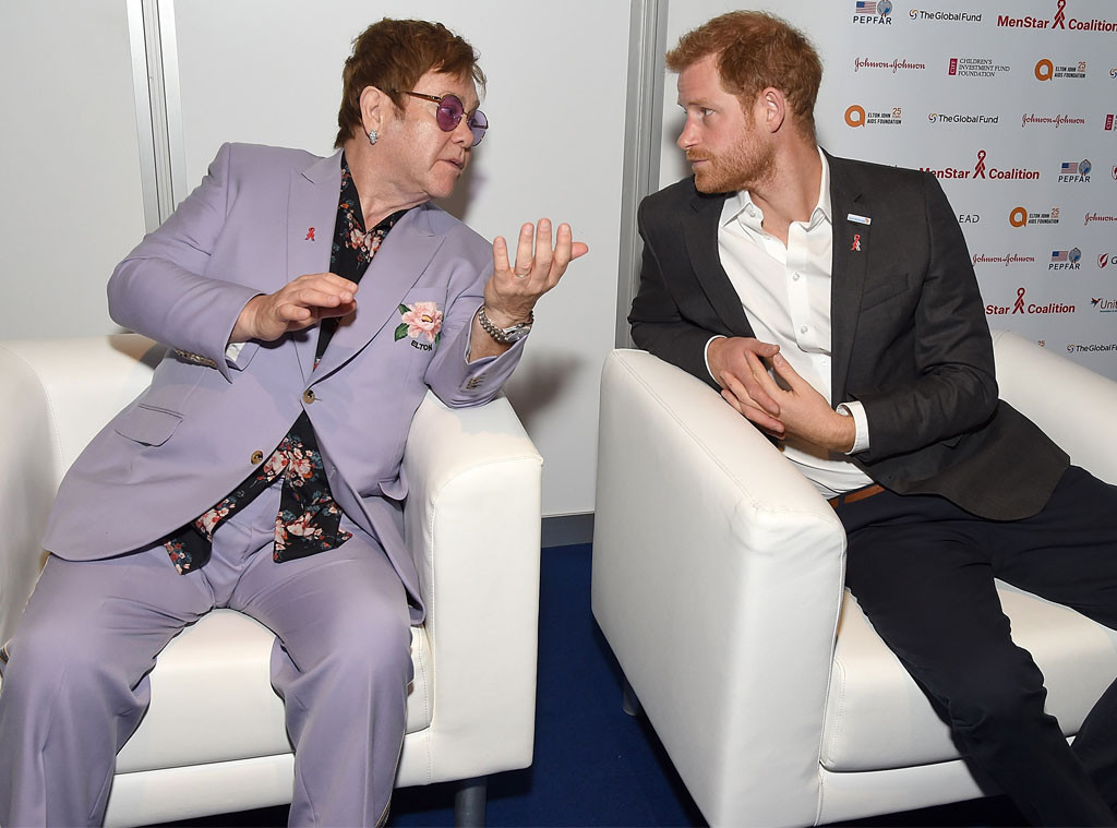 Sir Elton John, Elton John, Prince Harry, AIDS Event