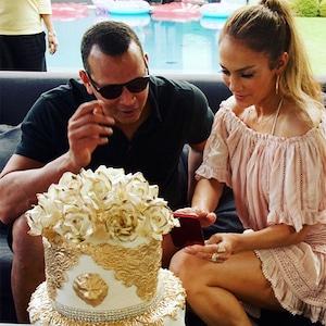 Alex Rodriguez, Jennifer Lopez, Birthday, Instagram