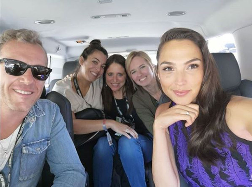 Gal Gadot -  The actress shared this car selfie on her way to SDCC to promote the latest film in her franchise,  Wonder Woman 1984 .